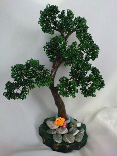Деревья из бисера мастер класс своими руками