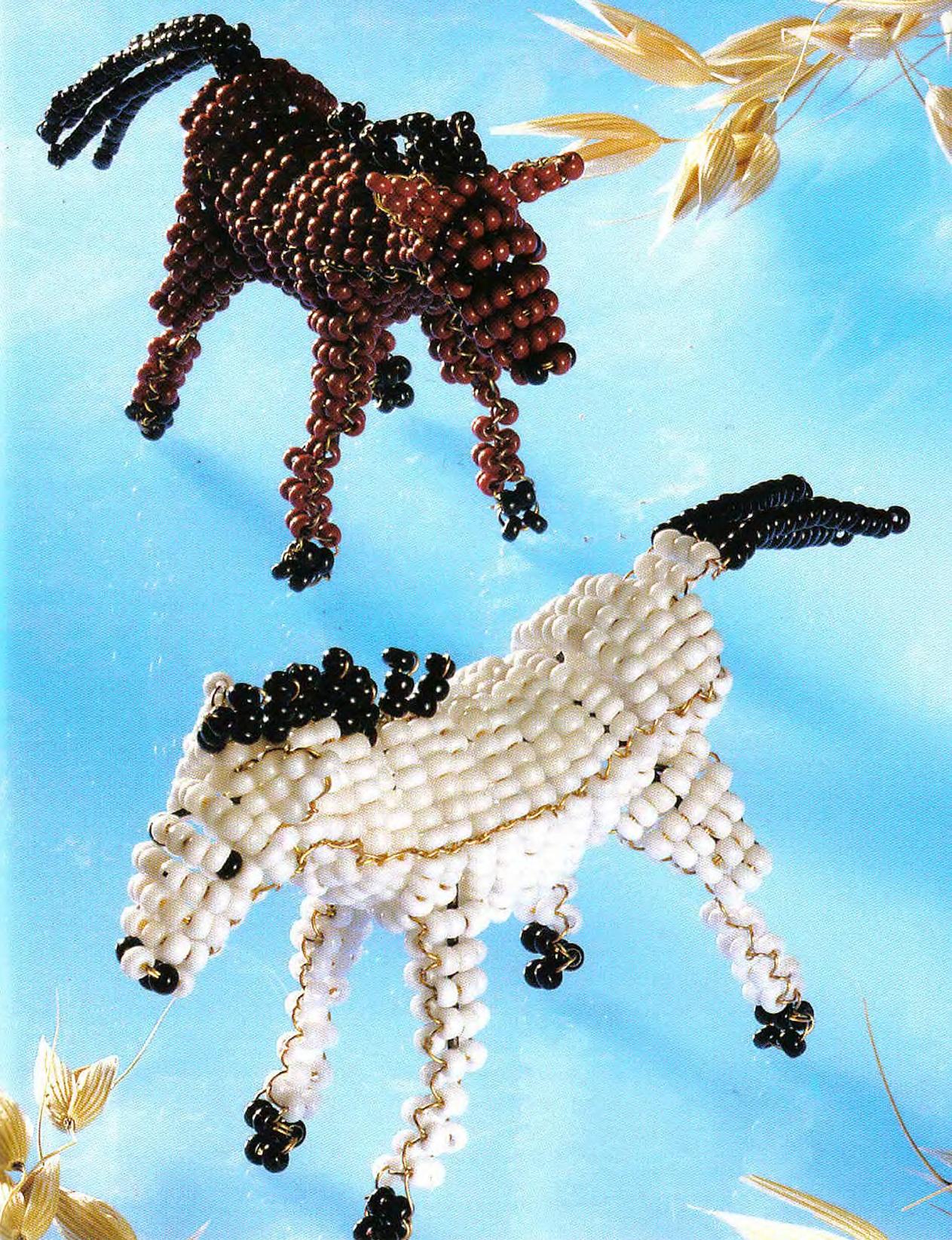 Пошаговый мастер-класс плетения объемных лошадок из бисера