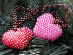 плетение сердечка из бисера