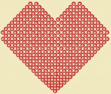 сердечки из бисера схемы
