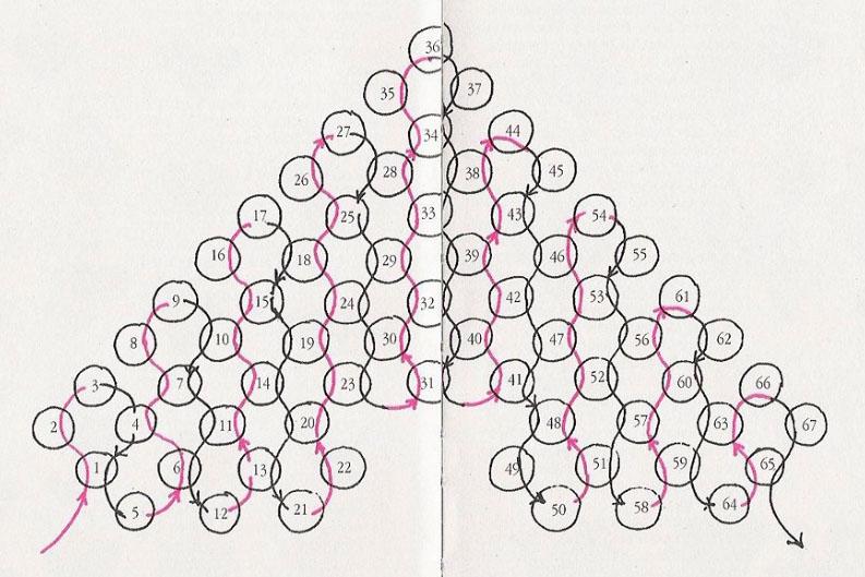 Схема плетения валентинки из