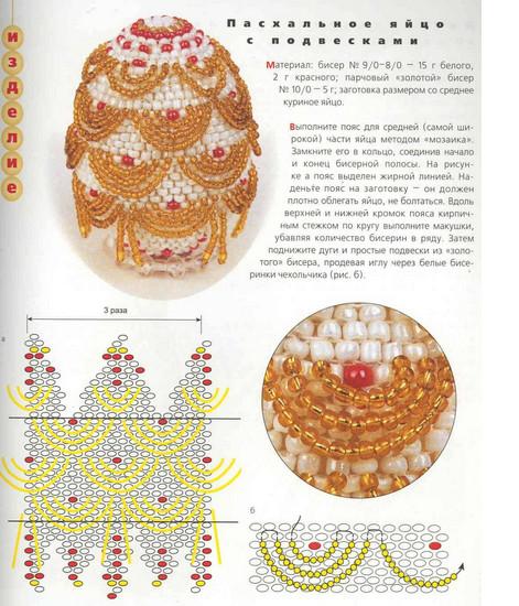 яйца оплетённые бисером подробные схемы