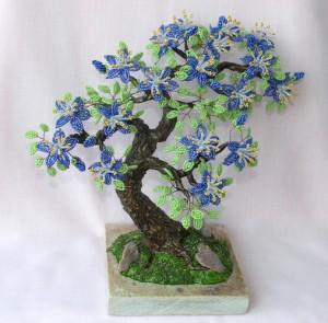 Плетение из бисера: деревья «Бонсай»