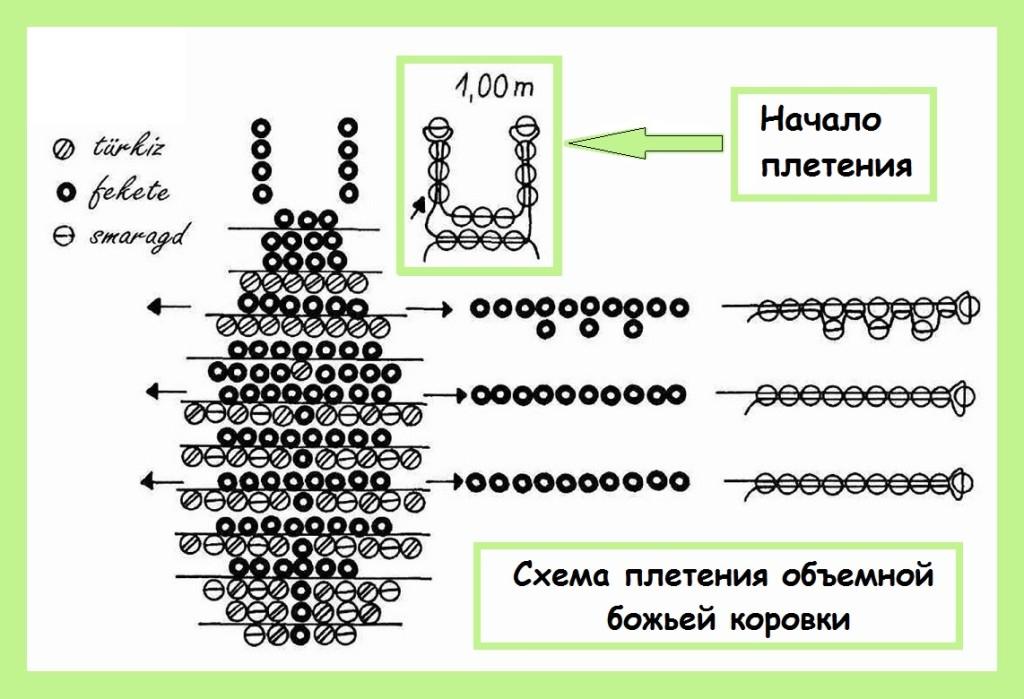 Схема плетения жучка