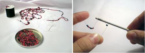 плетение из бисера ожерелье