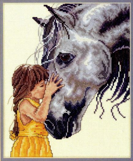 схемы вышивки лошади – об
