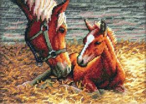 вышивка лошади Good Morning размер: 17х12 см, цветов: 24, канва: Аида 18