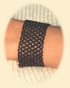 плетение широких браслетов из бисера