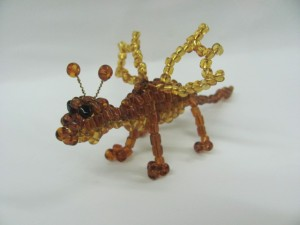 дракон из бисера для детей