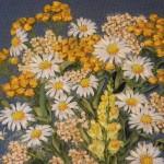 вышивка лентами цветов