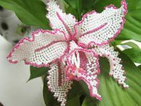 плетение орхидеи из бисера
