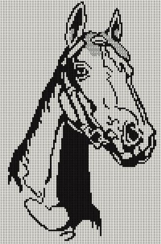 Вышивка крестом лошади может в