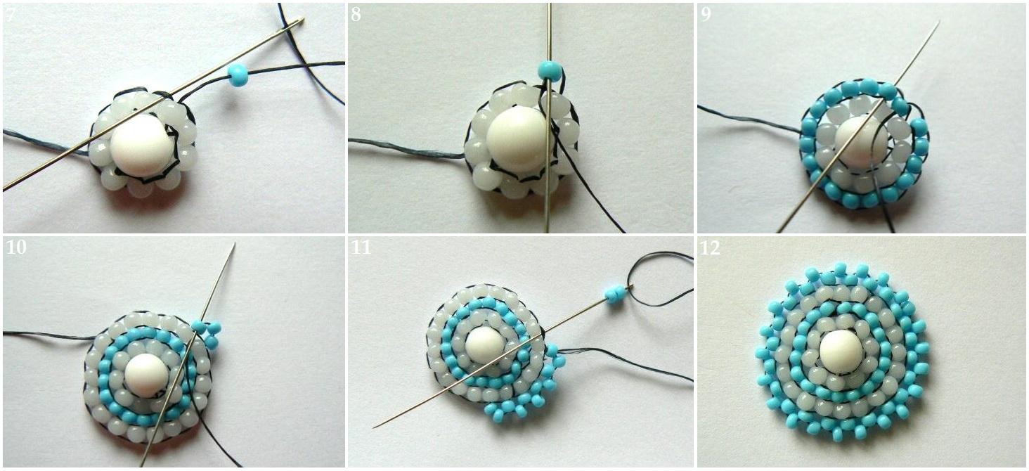 Как сделать сережки своими руками для начинающих схемы