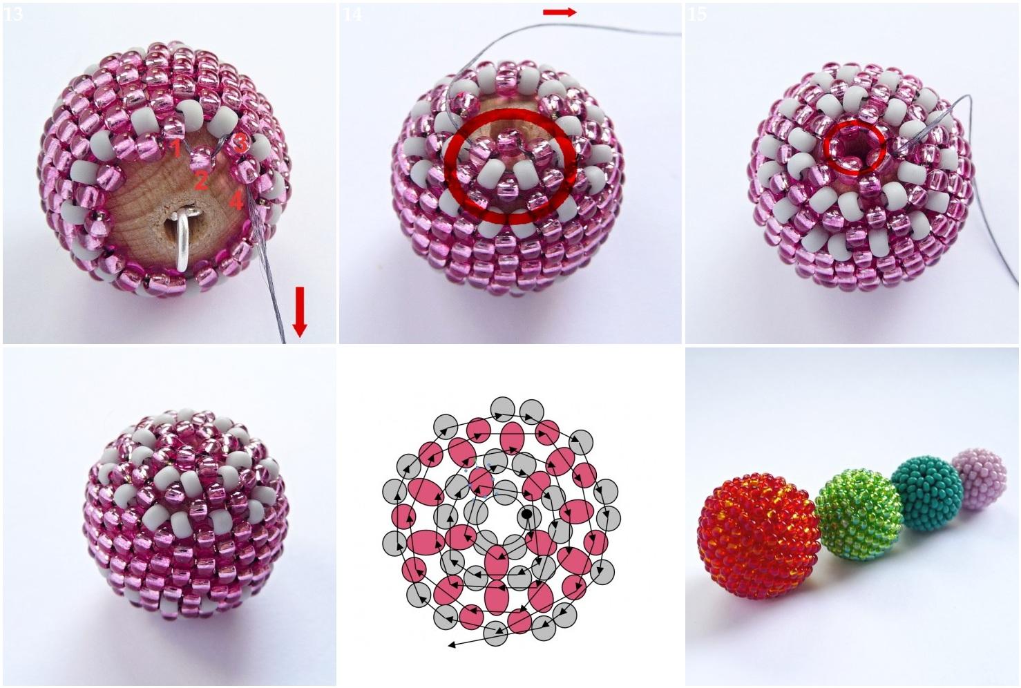 плетение из бисера схема цепочки