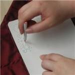шаблон для вышивки лентами на одежде