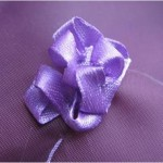 сирень вышивка лентами