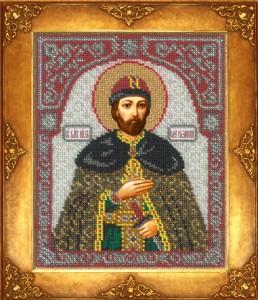 вышитая бисером икона Святой Олег