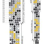 схема плетения змеи из бисера