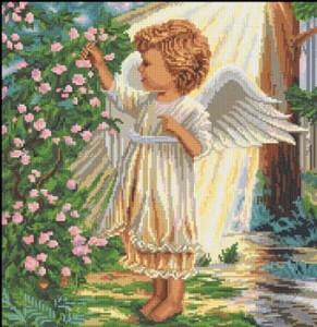 вышивка крестом ангел