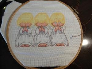 вышивка крестиком ангелов