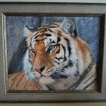 вышивка крестом тигра
