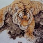 вышивка крестом тигры