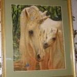 вышивка крестом лошадей