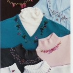вышивка лентами на одежде