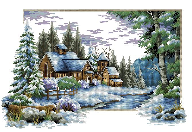 Схемы картин крестиком вышивка бесплатно