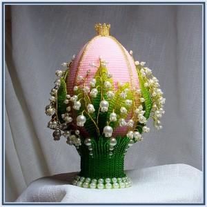 украшение яиц бисером